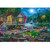 House by the Lake in the Moonlight - DIY Paint By Number Kit