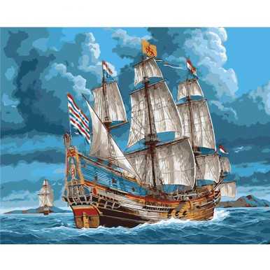 A Pirate Ship - DIY Painting By Numbers Kit