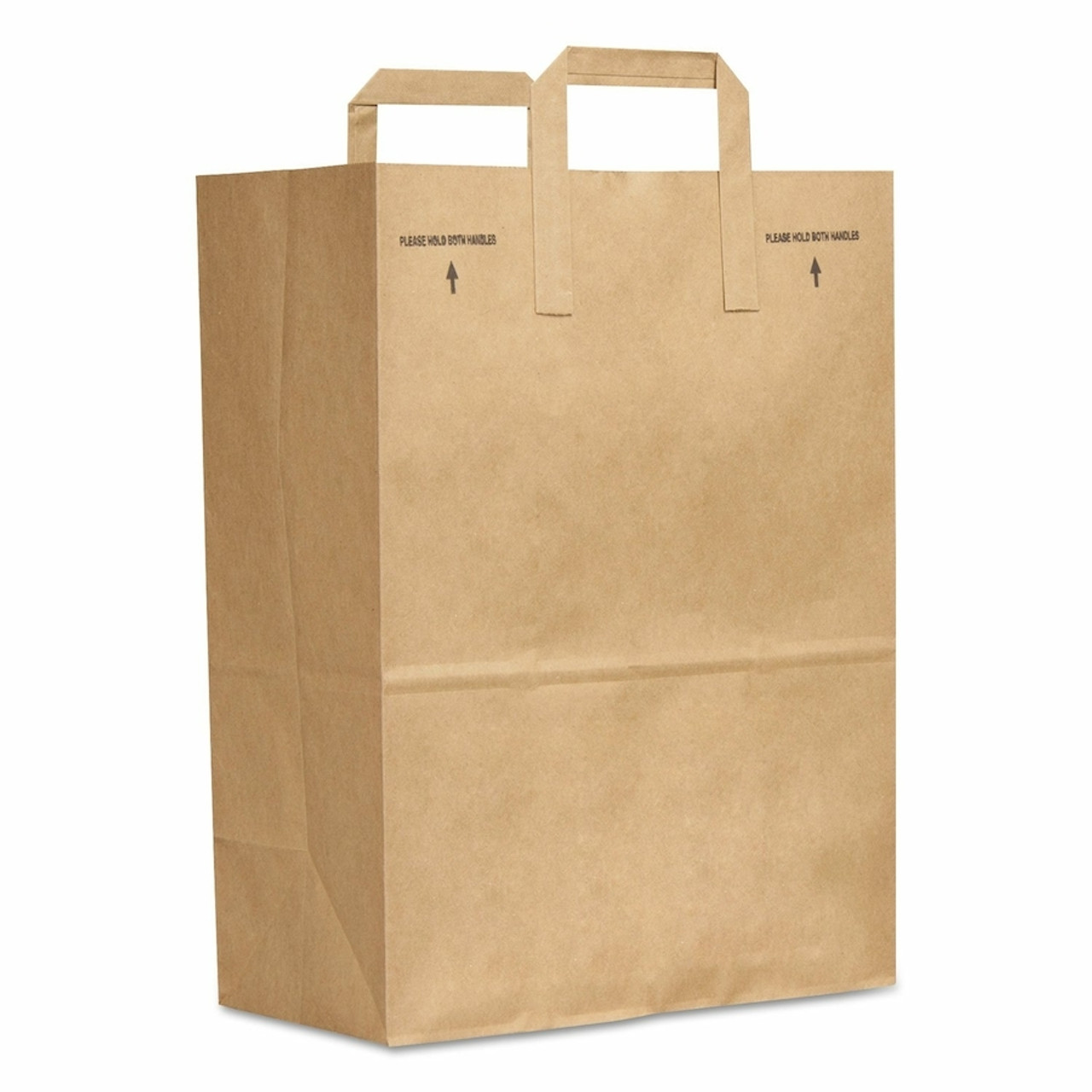 Flat Handle Paper Grocery Sacks