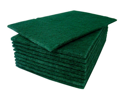 "Green Scour Pads 6x9"" Medium Duty (10/Pack)"