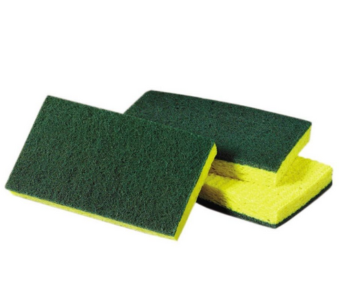 Scrubbing Sponges Yellow & Green (20/Case)