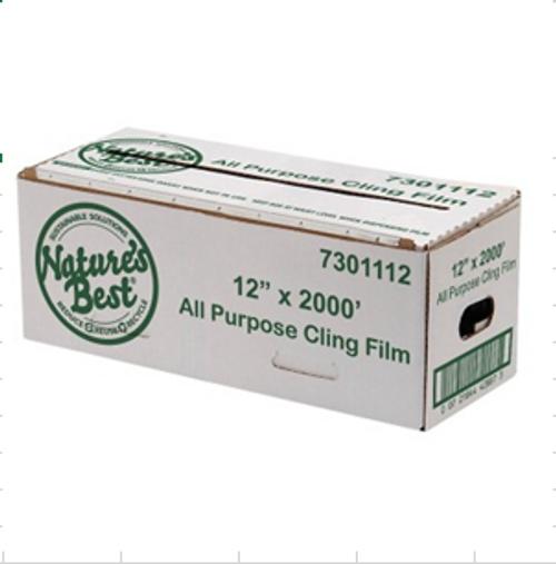 Nature's Best Cling Film 12″ x 2,000′ Cutterbox