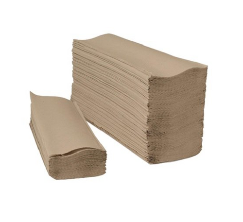 Natural Kraft Multifold Paper Towels, 16 Packs of 250 (4000/Case)