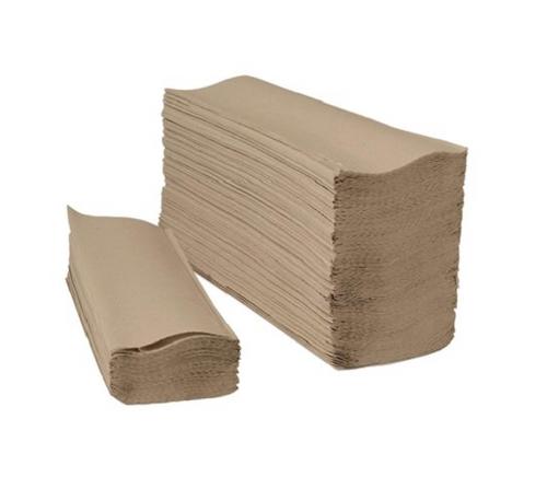 Natural Kraft Multifold Paper Towels, 16 Packs of 250 (4000/Case)