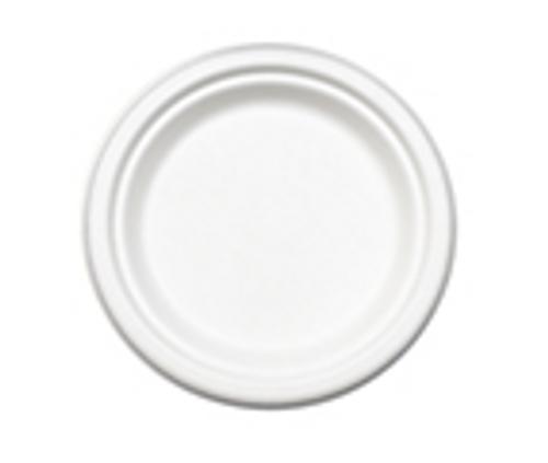 "6"" Sugarcane Fiber ""Paper"" Plates (1000/cs)"