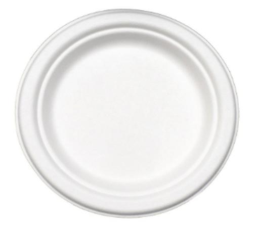 "7"" Sugarcane Fiber ""Paper"" Plates (1000/Case)"