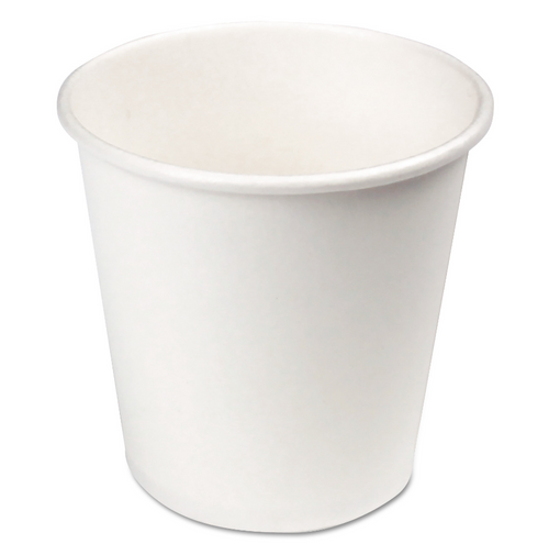 4 oz White Paper Hot Cups (1000/Case)