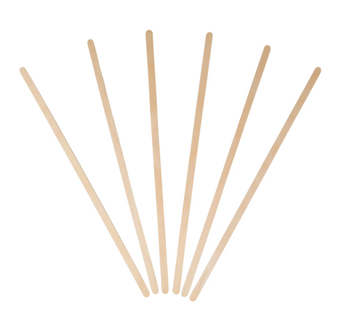 "7.5"" Wooden Coffee Stirrers w/ Round Ends (500/Box)"