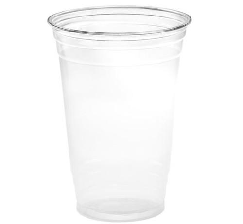 20 oz Clear PET Plastic Cups, 98mm (1000/Case)