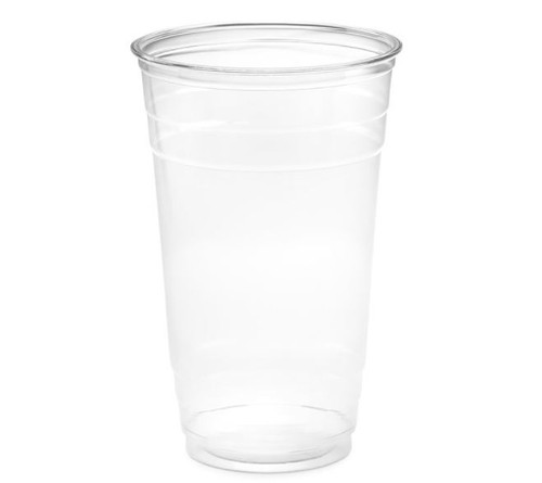 24 oz Clear PET Plastic Cups, 98mm (600/Case)