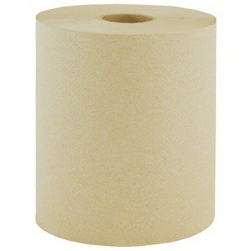 600' Natural Kraft Paper Towel Rolls (12/Case)