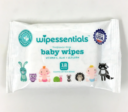 Baby Wipes Fragrance-Free w/ Vitamin E & Aloe,  Resealable Pouches, 80 Sheets (12/Case)