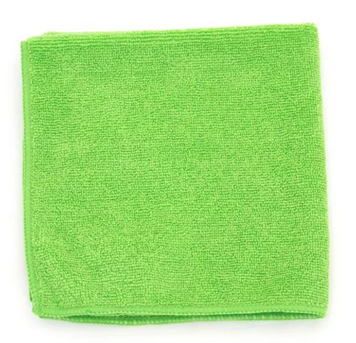 "Green Microfiber Towels 16x16"" (12/Pack)"