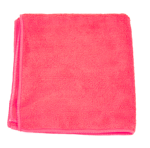 "Red Microfiber Towels 16x16"" (12/Pack)"
