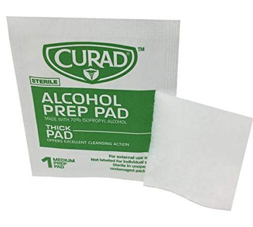 70% Isopropyl Alcohol Prep Pad 2 Ply Thick (100/Box)