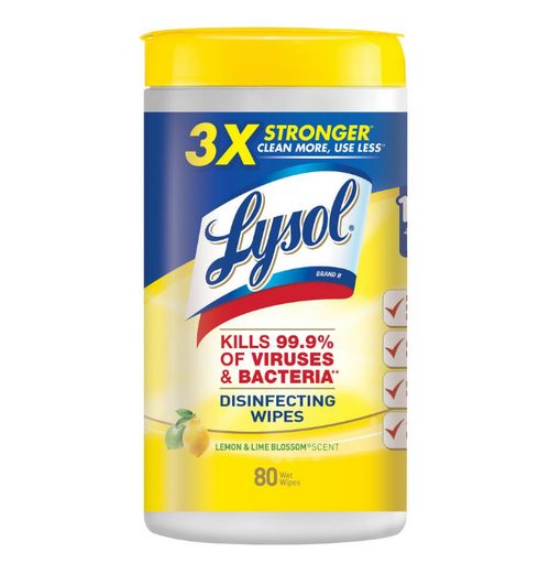 Lysol disinfecting wipes in stock lemon lime kevidko antibacterial