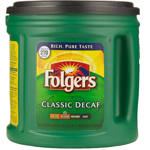 Folgers Decaf Ground Coffee Medium Roast 33.9 oz (1/Each)