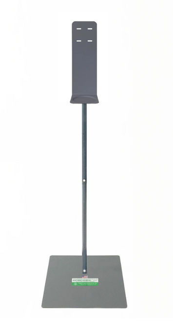 Floor Stand for Hand Sanitizer & Soap Dispensers, Antimicrobial Coated w/ Drip Tray (1/Each)