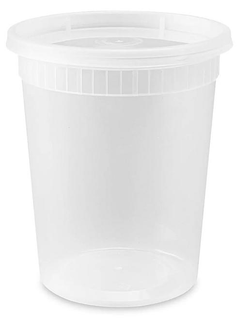 32 oz Heavy Duty Deli Cup & Lid Combo (240/Case)