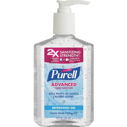 Purell Advanced Hand Sanitizer Refreshing Gel, 8 oz with Pump (1/Each)