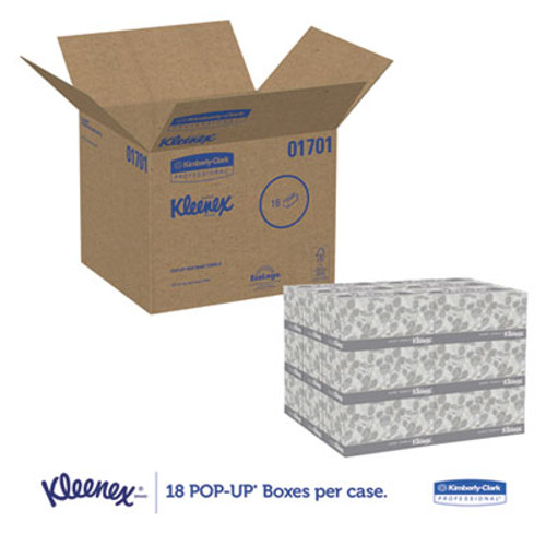 Kleenex Pop-Up Hand Towels with Absorbency Pockets, 120 Sheets (18/Case)