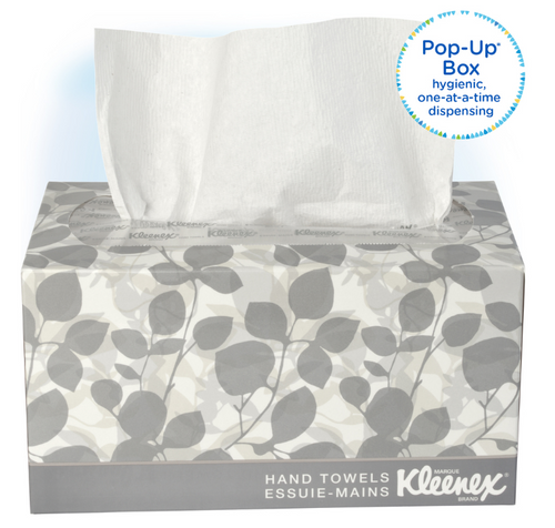 Kleenex Pop-Up Hand Towels with Absorbency Pockets (120/Box)