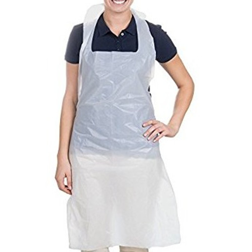 "Disposable Poly Aprons, Heavy Duty 2 Mil, 28x46"" (100/Box)"