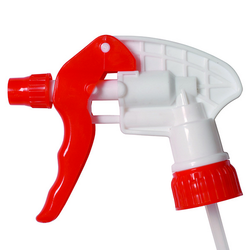 "Spray-Pro Trigger Sprayers, 8"" Dip Tube, Red, 28-400 (10/Pack)"