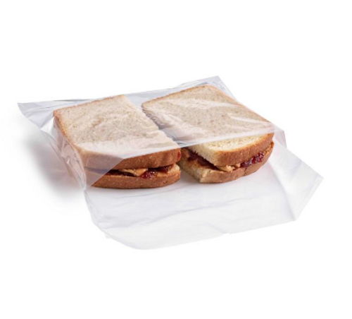 "Small Flip Top Sandwich Bags, 6.25x5.75+1.5"" (1000/Box)"