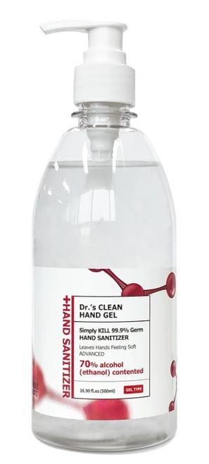 Dr's Clean Gel Hand Sanitizer, 70% Alcohol, 16.9 oz (1/Each)