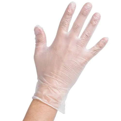 Clear vinyl exam medical grade gloves in stock. Kevidko
