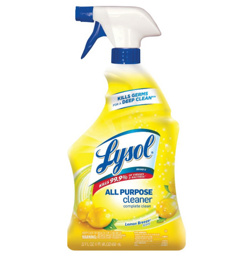 Lysol Lemon Breeze All Purpose Cleaner 32 oz Trigger Spray Kevidko