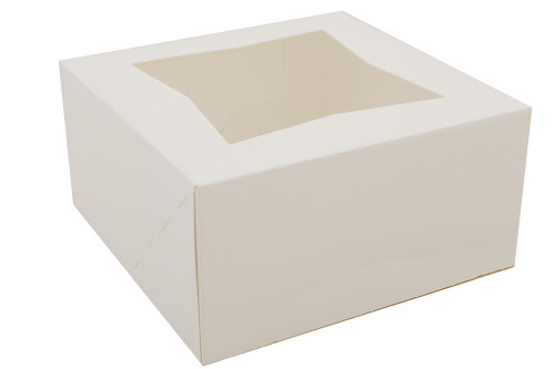 "6x6x3"" Automatic Window Bakery Box, Bright White (200/Case)"