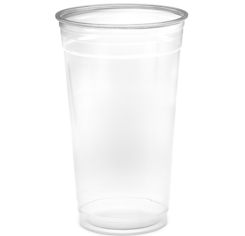 32 oz Clear PET Plastic Cups, 107mm (500/Case)