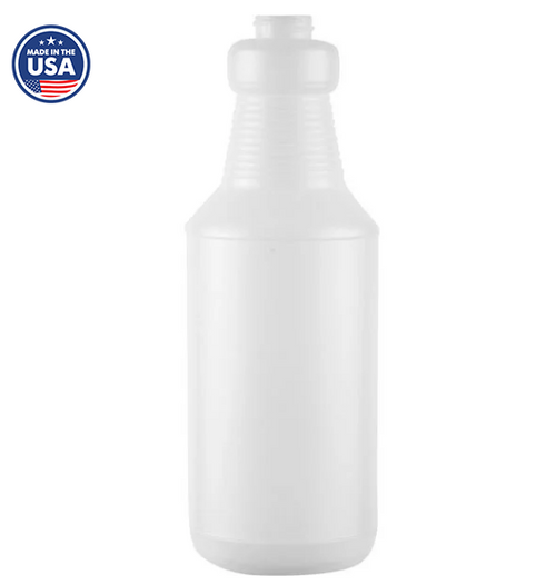 28/400 32 oz Super Heavy Duty Spray Bottle Carafes, Natural HDPE (56/Case)