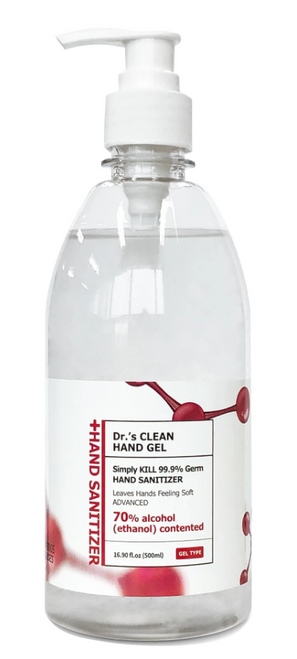 Case of Dr's Clean Gel Hand Sanitizer, 70% Alcohol, 16.9 oz (20/Case)