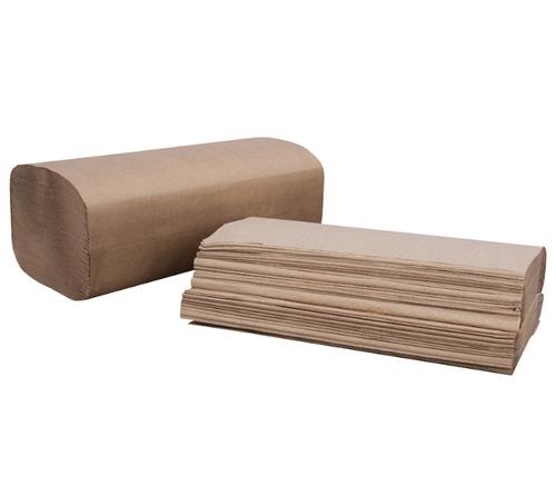 Natural Kraft Singlefold Paper Towels (16/250/Case)