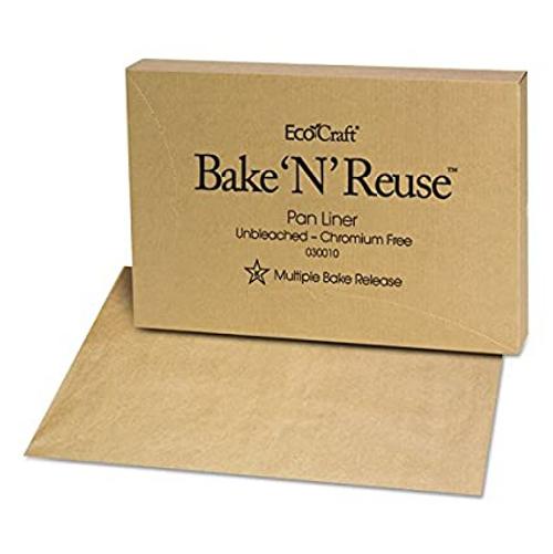 Eco Bake 'N' Reuse Full Sheet Pan Liner, Unbleached Natural, Chromium-Free (1000/Case)