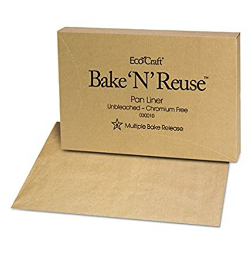 Eco Bake 'N' Reuse Full Sheet Pan Liner, Unbleached Natural, Chromium-Free (1000/Case)