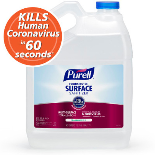 Purell Foodservice Surface Sanitizer, No-Rinse Gallon (1/Each)