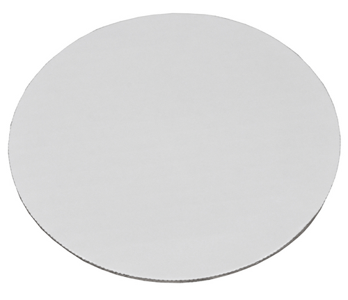 "10"" Round Cake Circle Boards, Corrugated, White (100/Case)"