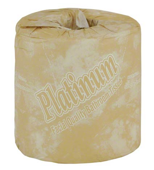 Platinum Bath Tissue, 2 Ply Facial Quality, 500 Sheets (96/Case)