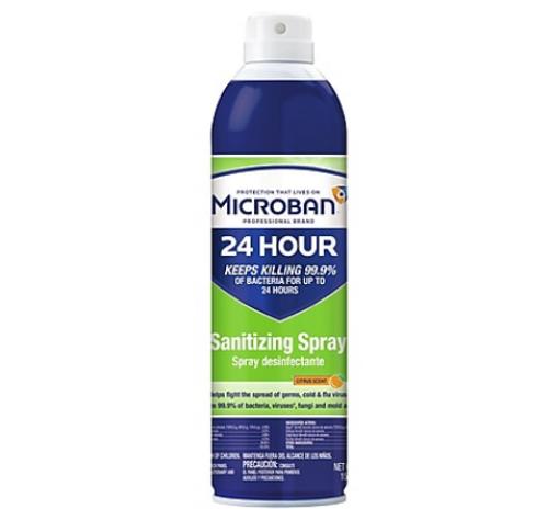 Microban Professional 24 Hour Sanitizing Spray 15 oz
