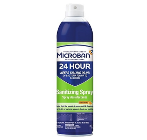 Microban Professional 24 Hour Sanitizing Spray 15 oz