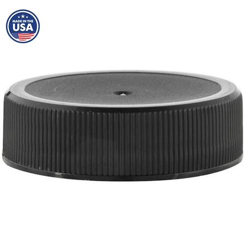 38-400 Black Ribbed Caps, Polypropylene, F217 Liner (1000/Pack)