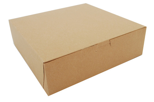 "10x10x3"" Cake/Bakery Box, Natural Kraft (200/Case)"