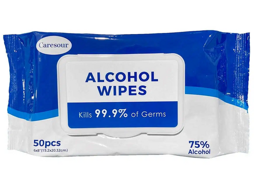 Case of Hand Sanitizing Alcohol Wipes, 50 Sheets (24/Case)