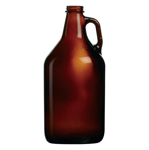 1/2 Gal 64 oz Beer Growler, Amber Glass (6/Case)