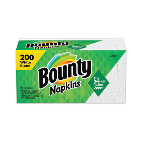 Bounty Quilted Lunch Napkins, 8 Packs of 200 (1600/Case)