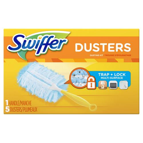 Swiffer Duster Starter Kit, 1 Handle Plus 5 Duster Refills (1+5/Box)